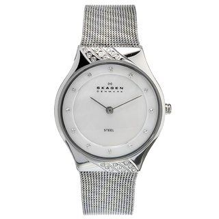 Skagen Womens Stainless Steel Crystal Watch