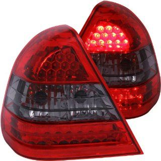 Anzo USA 321112 Mercedes Benz Crystal Lens Red/Smoke LED Tail Light