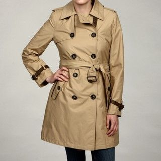 Hilary Radley New York Womens Tan Belted Coat FINAL SALE