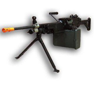A&K M249 SAW MKI M4 Airsoft Electric Gun with hard case