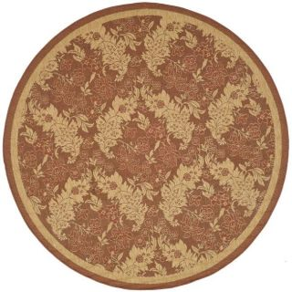 Indoor/ Outdoor Red/ Natural Rug (67 Round)