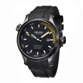 Golana Swiss Mens Aqua Pro 100 Black and Yellow Watch