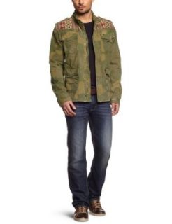 Scotch & Soda Mens Jacket With Embroidered Shoulder