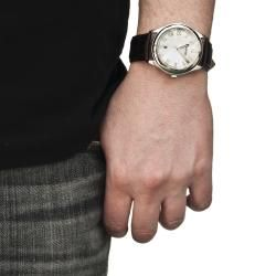 Unlisted by Kenneth Cole Mens Leather Strap Watch