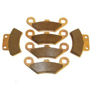 1988 1999 Polaris 250 Trail Boss Front & Rear Sintered Brake Pads