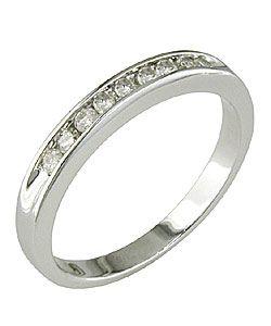 Miadora 14k Gold 1/4ct TDW Round Diamond Anniversary Ring