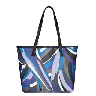 Emilio Pucci Blue Multicolored Medium Tote