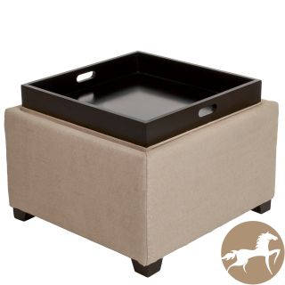 light tan fabric tray top storage ottoman today $ 171 99 sale $ 154