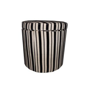 Black/ Beige Striped Storage Ottoman Today $64.99 Sale $58.49 Save