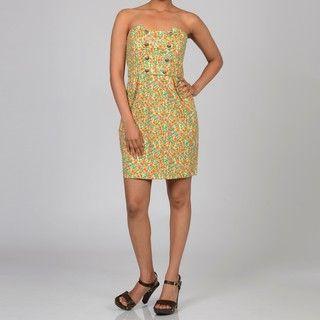 Decode 1.8 Womens Floral Button detail Dress