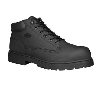 Lugz Mens Drifter Black Leather Scuff proof Boot
