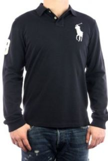 Polo by Ralph Lauren langarm Big Pony Longsleeve navy weiß M