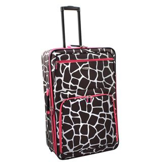 Rockland Pink Giraffe 28 inch Expandable Rolling Upright Luggage