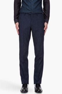 Kenzo Navy Wool Cashmere Pants for men