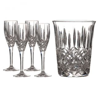 Royal Doulton Formal Crystal Champagne Cooler Flutes 5 piece set