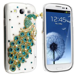 BasAcc Clear/ Green Peacock Diamond Case for Samsung Galaxy S III/ S3
