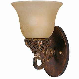 Crown Jewel Antique Gold 1 Light Wall Sconce