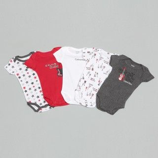 Calvin Klein Boys Guitar Print Bodysuit (Set of 5)