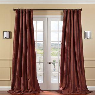 Paprika Faux Silk Taffeta 108 inch Curtain Panel