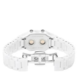 Philip Stein Signature Womens White Ceramic Dual Time Watch