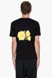 Comme Des Garçons Homme Plus Black Flower Print T shirt for men