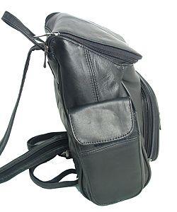Adi Designs Leather Flip top Backpack