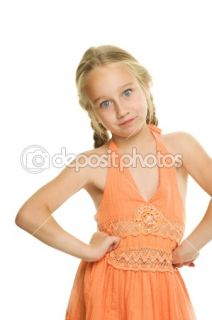 Little girl making funny face  Stock Photo © Andrejs Pidjass