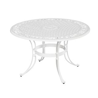 Biscayne 48 inch White Finish Round Dining Table