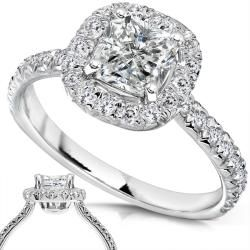 14k White Gold 1 2/5ct TDW Diamond Engagement Ring (H I, I1 I2