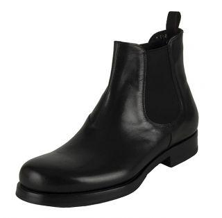Prada Mens Leather Chelsea Boots