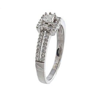 10k White Gold 3/5ct TDW Diamond Engagement Ring (H I, I1 I2
