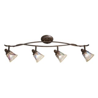 Tannery Bronze 4 light Flush Rail Light Fixture