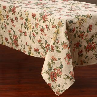 Floral Design 50x90 inch Italian Heavy Weight Tablecloth
