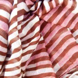 LA77 Womens Three Toned Striped Scarf