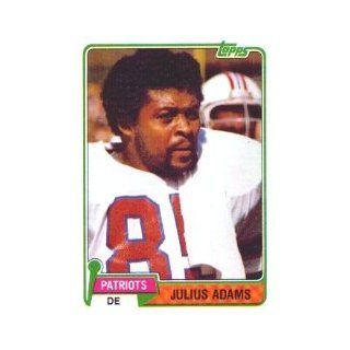 1981 Topps #139 Julius Adams Collectibles