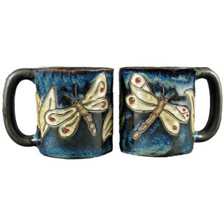 Set of 2 Mara Stoneware 16 oz Dragonfly Mugs (Mexico) Today $37.95 5