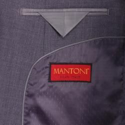 Mantoni Mens Charcoal Gray Wool Slim fit 2 button Suit