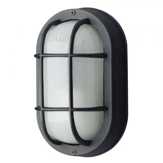 Black Diecast Aluminum 1 light Outdoor Wall Fixture