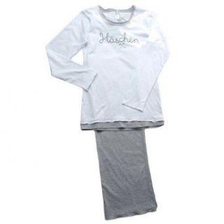 Schlafanzug LOUIS & LOUISA Häschen Grau Bekleidung