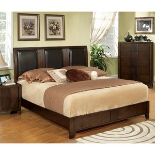 Zigi Modern Queen Size Padded Leatherette Bed
