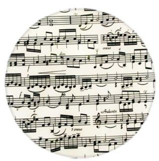 Andreas TRT143 10 Inch Silicone Trivet, Musical Notes