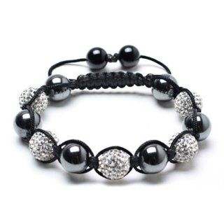 SH MIX HEMATITE & CLEAR Shamballa Armband swarovski Diamant klar