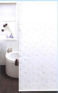 DUSCHROLLO als Duschvorhang 100% PEVA 140cm breit x 240 cm lang weiß