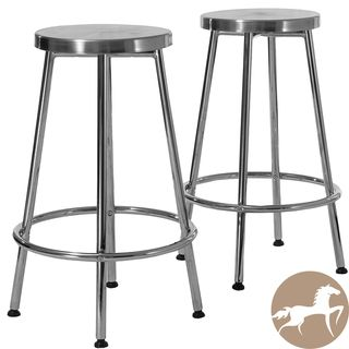 Christopher Knight Home Mayworth Chrome Barstools (Set of 2