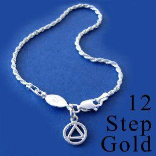 Alcoholics Anonymous AA Symbol 7 Bracelet, #140.14
