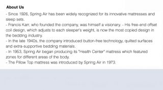 Spring Air Mattresses: Buy Bedroom Furniture Online