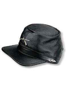 Carroll Leather 140 Black Civil War Cap    Automotive