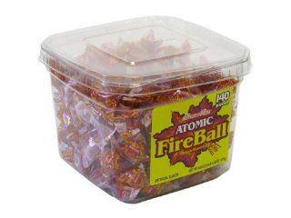 Atomic Fireballs Tub, 140 Count Grocery & Gourmet Food