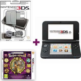3DS XL ROUGE NOIR + LAYTON 4 + BLOC CHARGEMENT   Achat / Vente DS 3DS