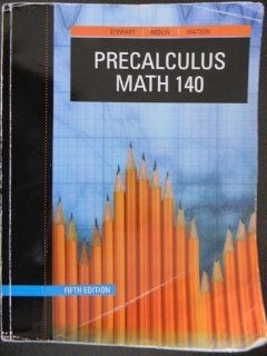 Precalculus Math 140 James Stewart 9781424078004 Books